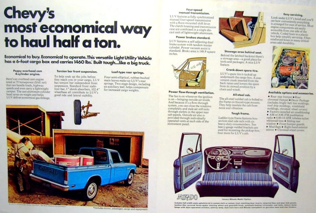 Chevrolet LUV - Isuzu Faster 1972-1980