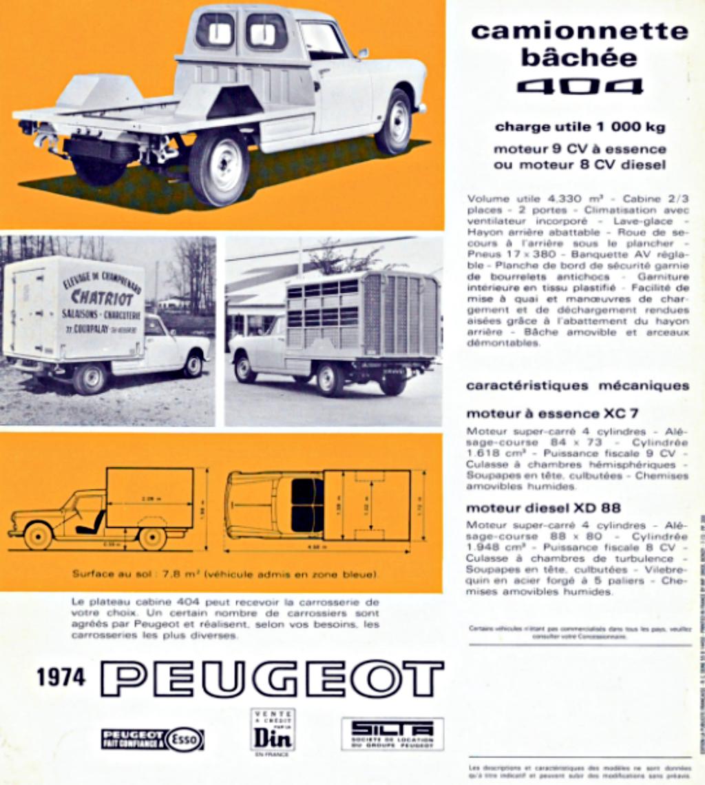 Peugeot 404 Pickup 1967-1988