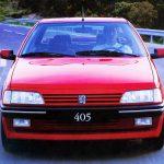 Peugeot 405 Mi16: 160 caballos, 220 Km/h y un 0 a 100 Km/h en 8,6 segundos.