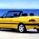 Peugeot 306 Cabriolet: 1994 al año 2000 en Chile, con un total de 53 unidades vendidas